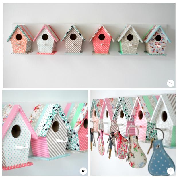 Bird house key hooks steps 17 to 19