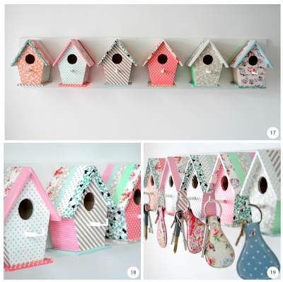 Bird house key hooks steps 17 to 19