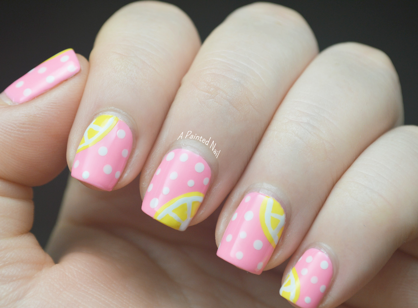 The Inspiration For My Pink Lemonade Nails Came From Pam S Y Bits That I Found On Pinterest All Today But Be Sure To Check Out Rest Of