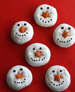 Pre School Activities Edible Snowman Craft