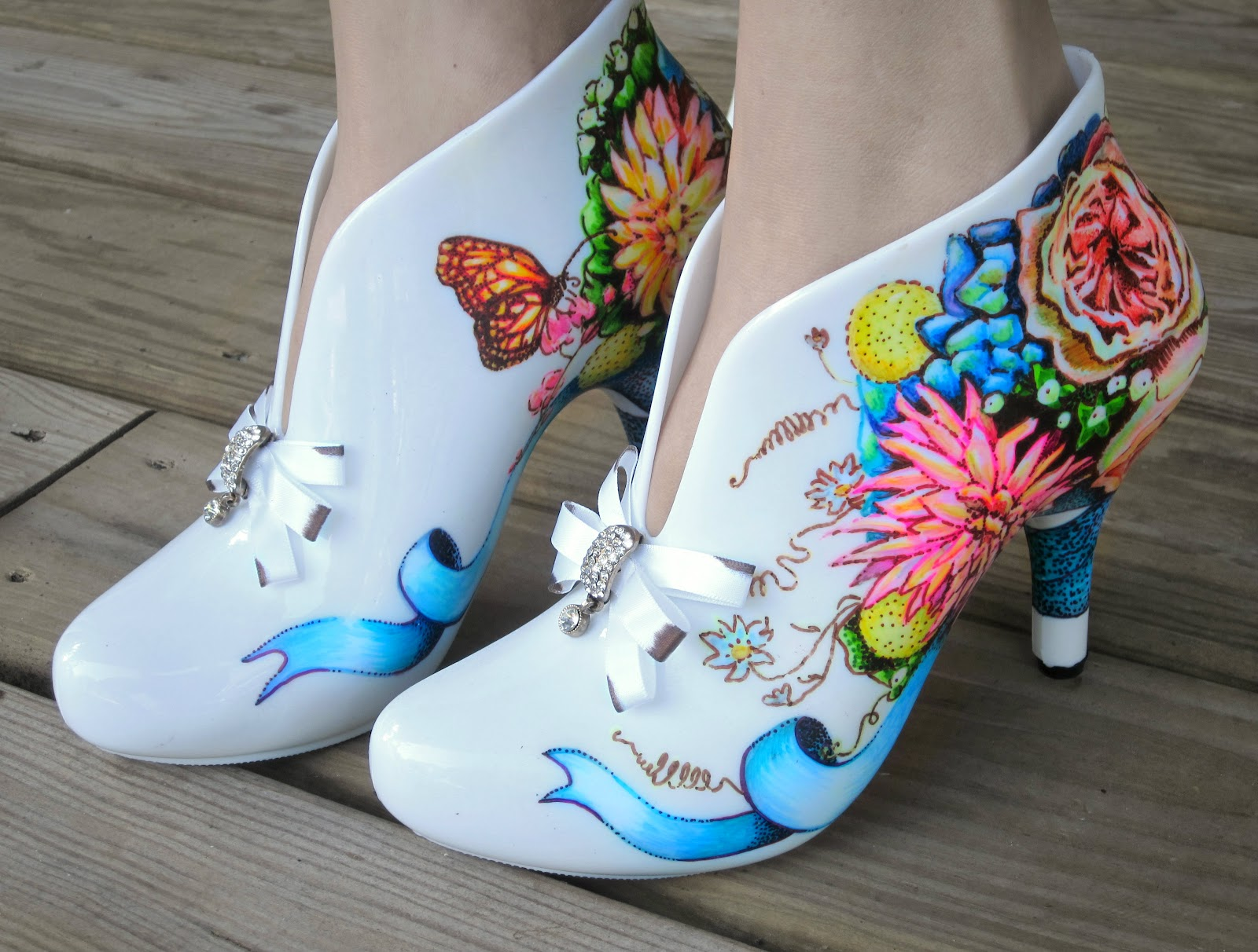 the painted shoes by miranda