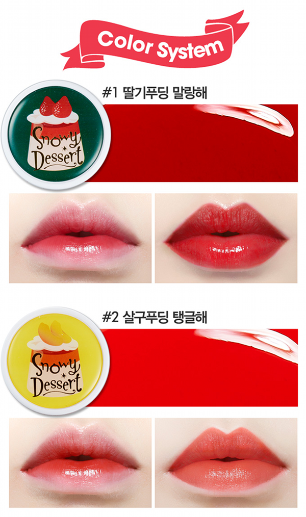 Etude House, Snow Dessert, review, korean beauty, korean makeup, play 101 pencils, swatches, pudding tint, lip tint