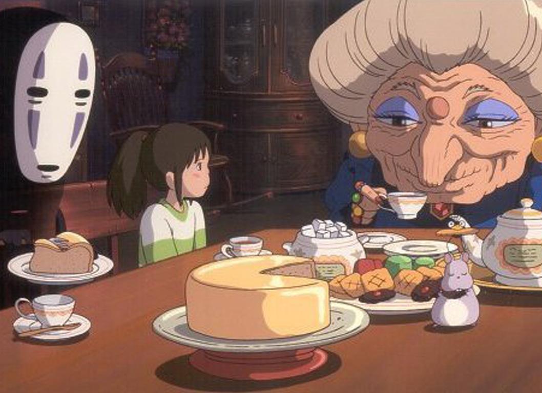 Spirited away food parents eat