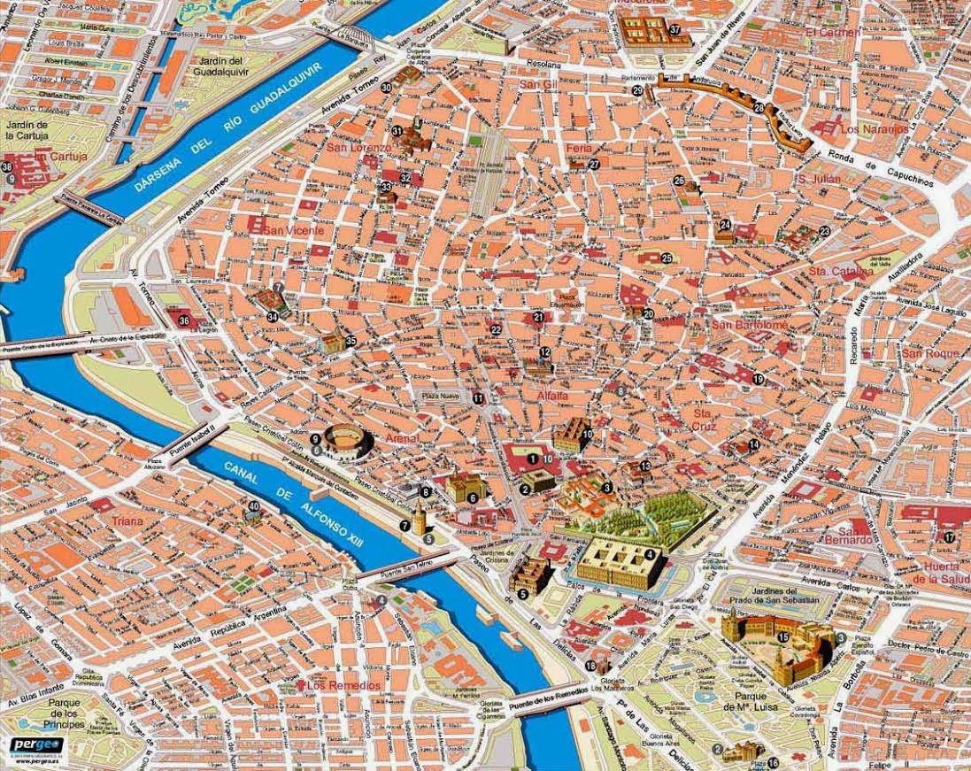 Street map Sevilla Spain