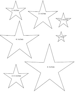 Dramatic image inside star template printable free