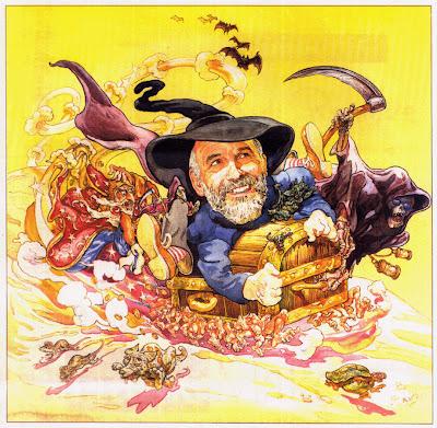 Dibujo del escritor Terry Pratchett