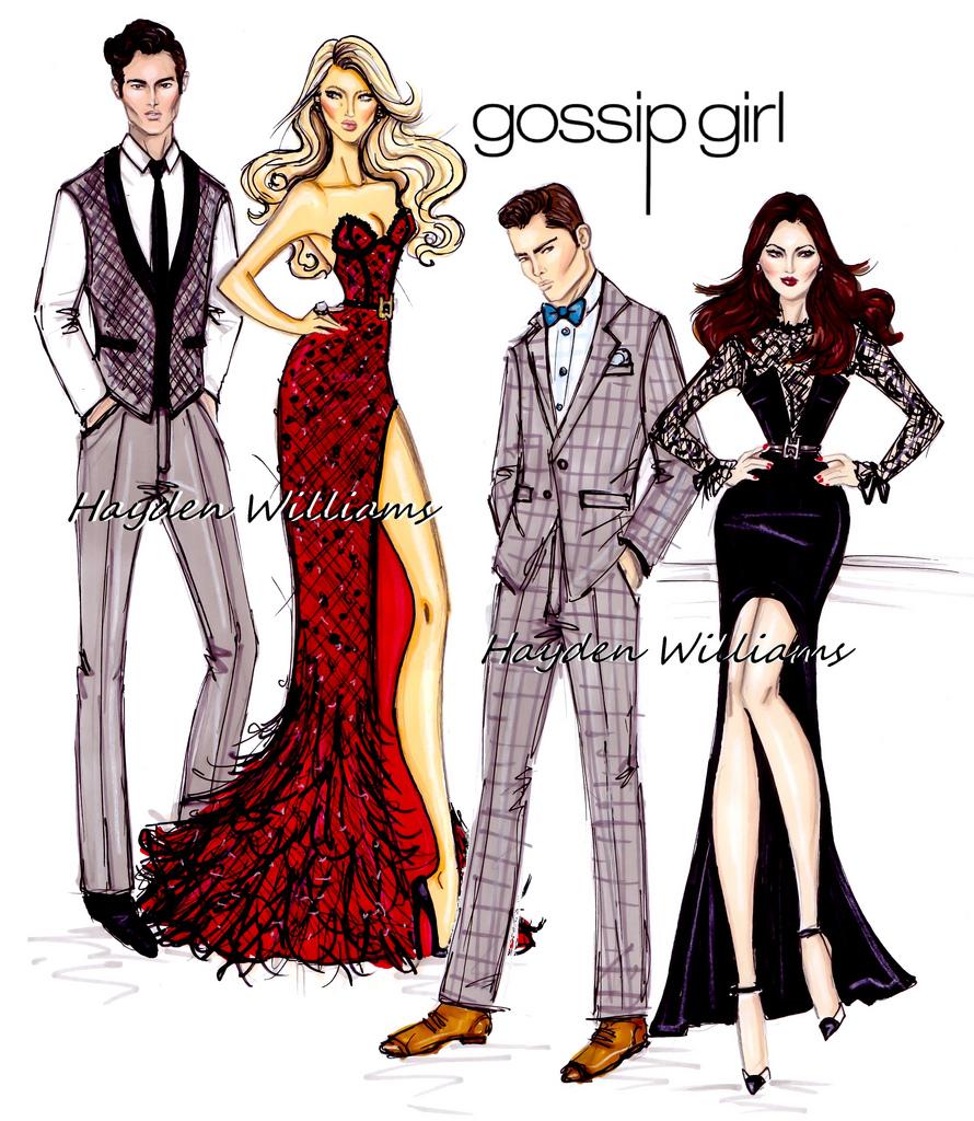 Hayden Williams Fashion Illustrations Gossip Girl By