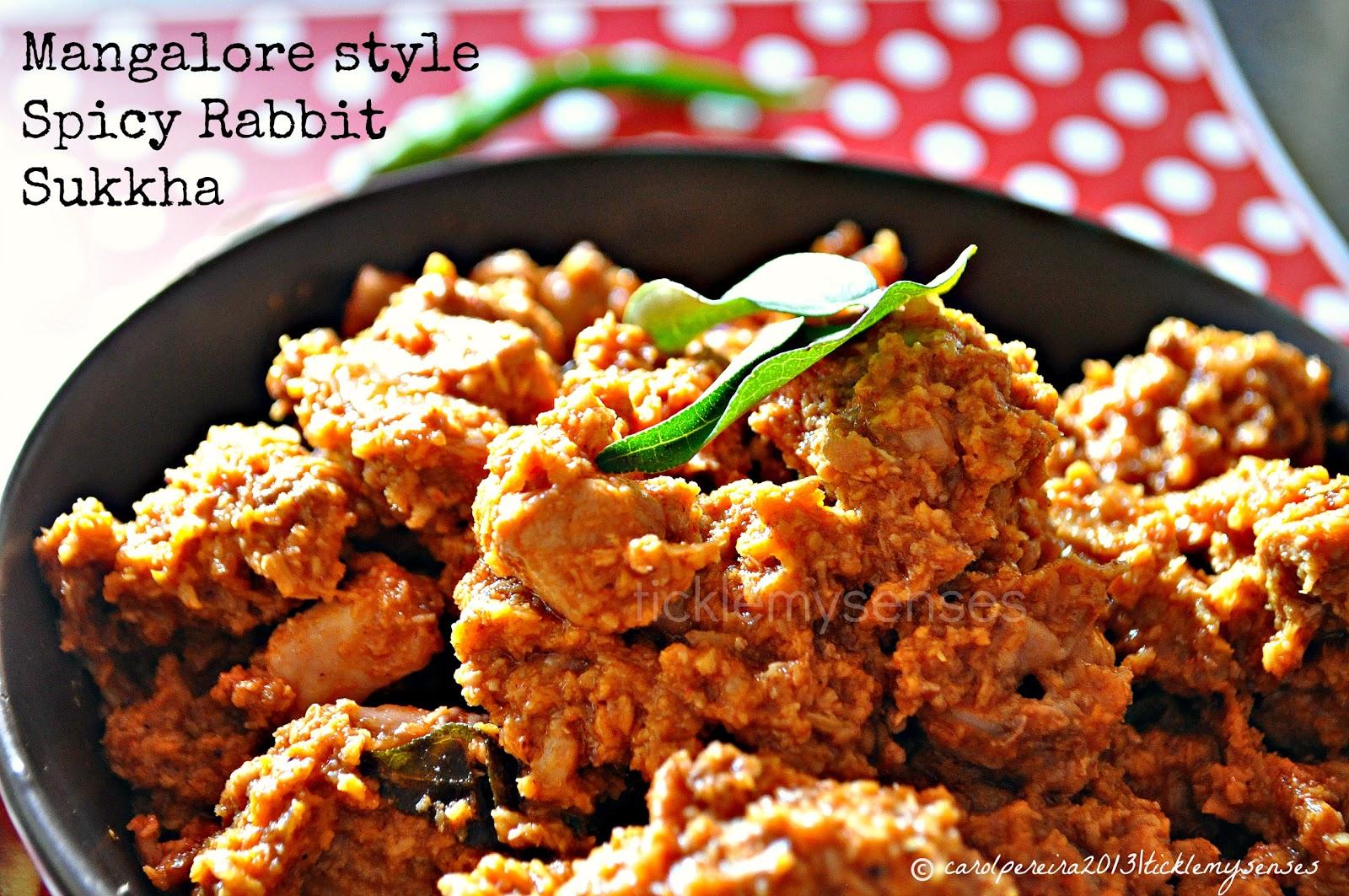 ... Style Spicy Rabbit Sukka/ Sukkha, Rabbit in a Spicy Dry Coconut Gravy