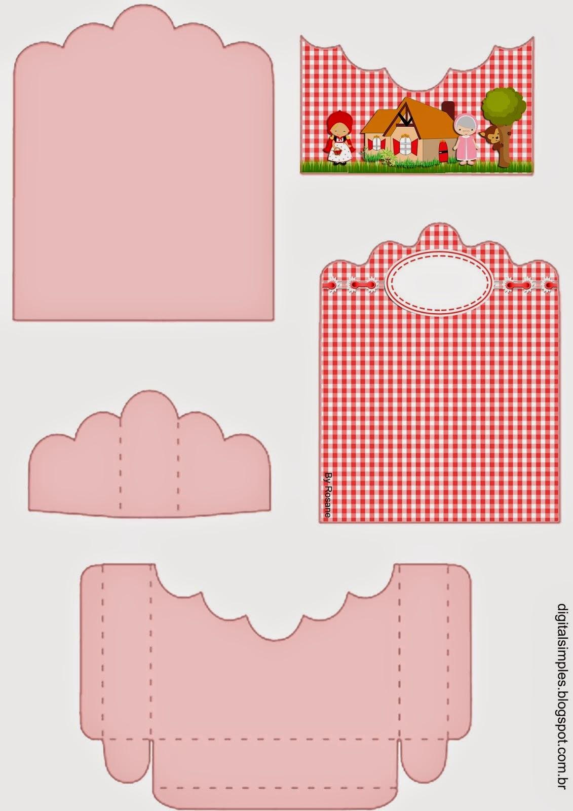 Caperucita Roja: Soporte para Golosinas para Imprimir Gratis.