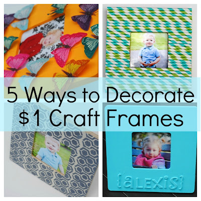 5 ways to decorate a craft frame kids craft ideas for Ways to frame pictures