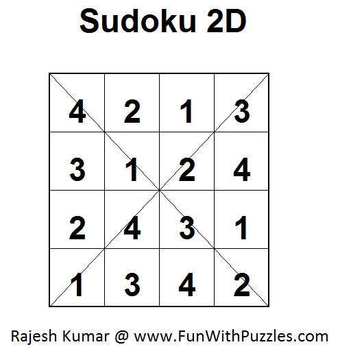 Sudoku 2D (Fun With Sudoku #14) -1