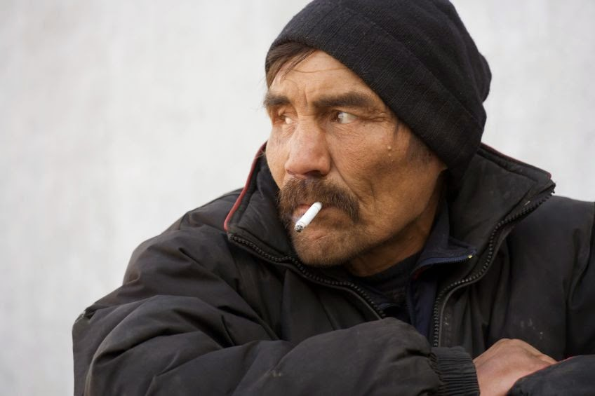 Man Walks 21 Miles Each Way To Buy Cigarettes.
