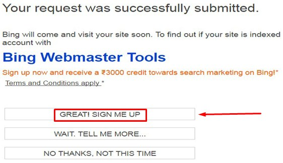 Your request was successfully submitted