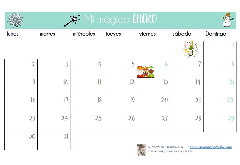 📅 Descarga mis calendarios 2017