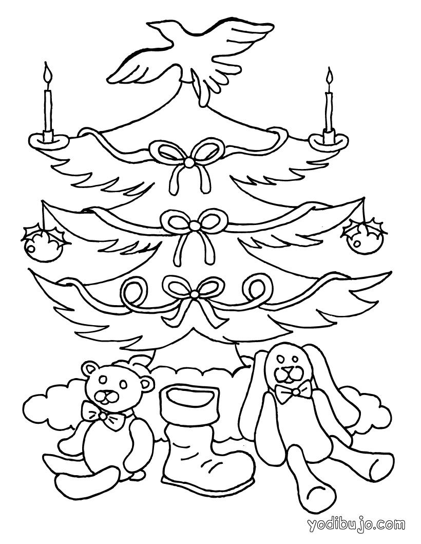 Pintar y Colorear Arboles de Navidad | Colorear y Pintar Dibujos
