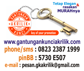 Kontak gantungan kunci akrilik