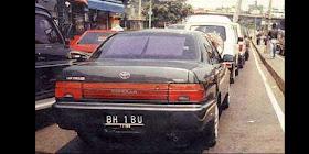 Plat Nomor Mobil Unik