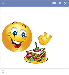 Emoticon with sandwich