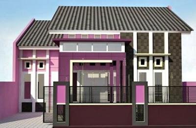 warna cat rumah minimalis ungu