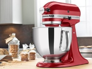 Cheap Kitchenaid MADE IN USA Stand Mixer Tilt 5 QT Rk150ca With Metal Bowl  Artisan Tilt Candy Apple Red