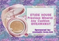 Giveaway: ETUDE HOUSE Precious Mineral Any Cushion c/o COSMETIC-LOVE
