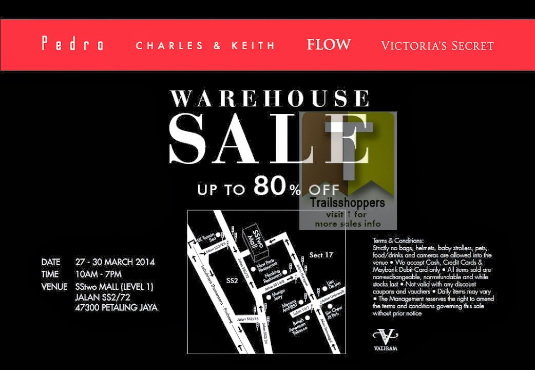 Valiram Group Warehouse Sale Pedro Victoria's Secret Charles & Keith and FLOW