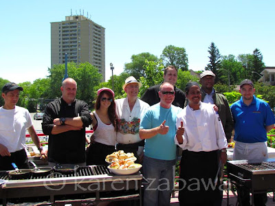 Several Port Credit area chefs at lighthouse book launch and bbq.