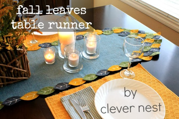 modern fall table runner #thanksgiving_table #turkeytablescapes #myclevernest