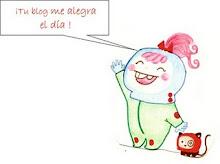 """Premio """"Tu blog me alegra el dia"""" de Mila."""
