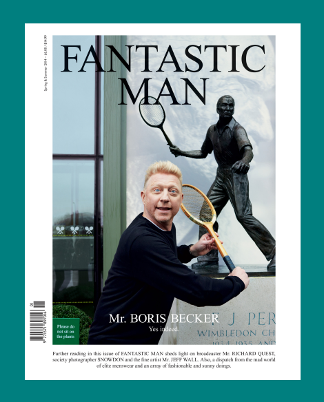 Boris Becker by Juergen Teller for Fantastic Man SS14