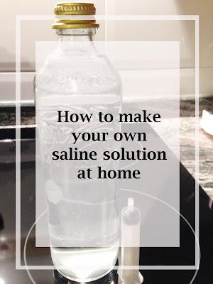 recipe saline solution
