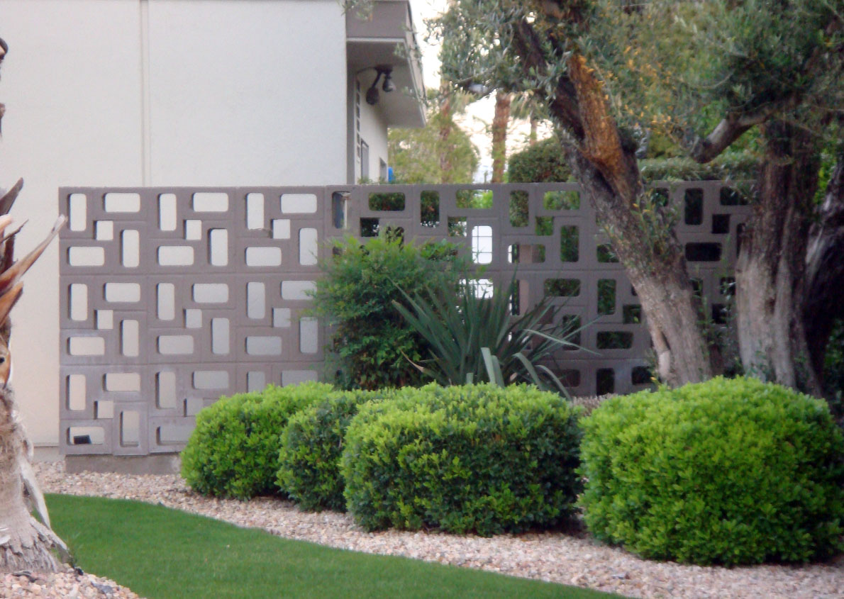 Geometric concrete screen block wall modern design by for Concrete block walls design