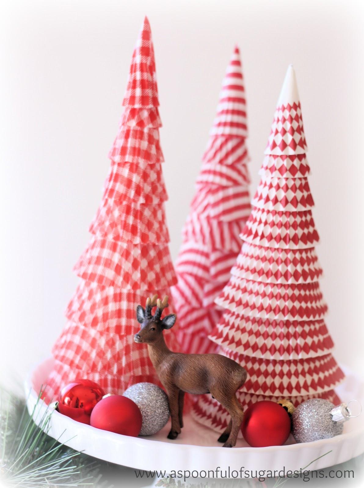 Paper christmas tree a spoonful of sugar - Arboles de navidad originales ...