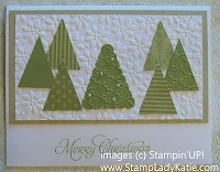 Holiday Card using the Petite Pennant Punch to make Christmas trees