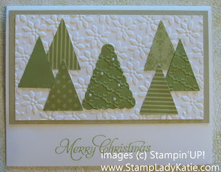 Christmas Card made with Stampin'UP!'s Petite Pennants Punch.
