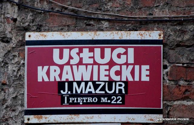 Warszawa usługi krawieckie Mazur Chmielna szyld