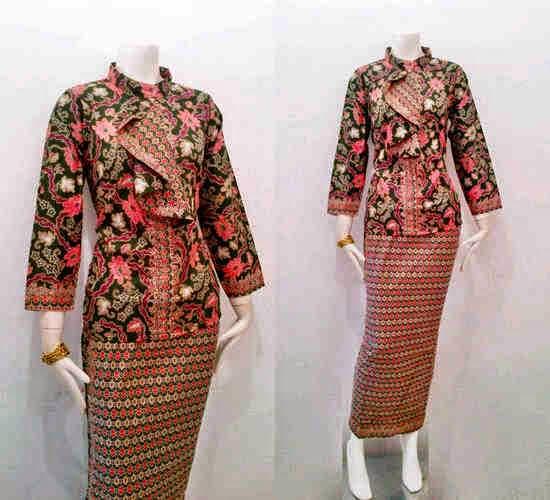 Motif Batik Kombinasi Model Baju Batik Modern | MEJOR CONJUNTO DE ...