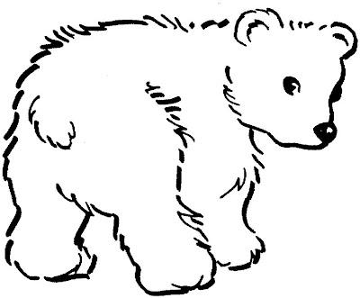 Desenho Pra Colorir  urso para pintar e colorir