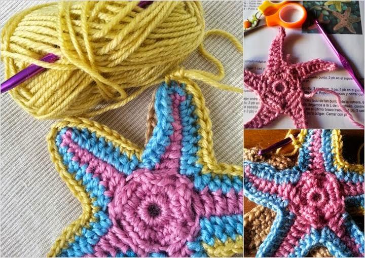 La ventana azul: 108.- Estrella de mar a crochet
