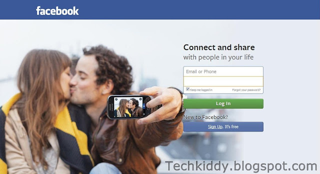 facebook new login page