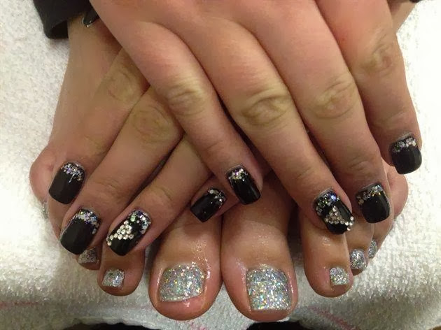 acrylic backfill LED polish manicure paint over and bling with glitz and crystals Gel-Nails-Polish-LED-Polish-LED-Nails-Acrylic-Nails-Nail-Art