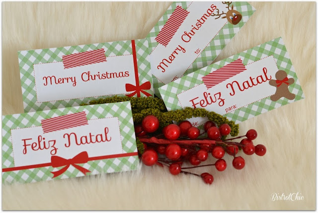 Vichy Christmas Gift Tags by Bistrotchic