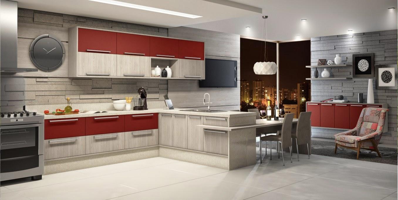 Cozinhas moduladas modernas e acessíveis – veja modelos lindos e dicas de com # Bancada De Cozinha Magazine Luiza