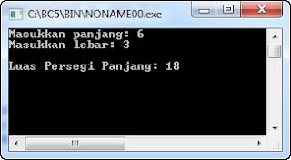 Contoh Program C++: Menghitung Luas Persegi Panjang dengan Fungsi non-void