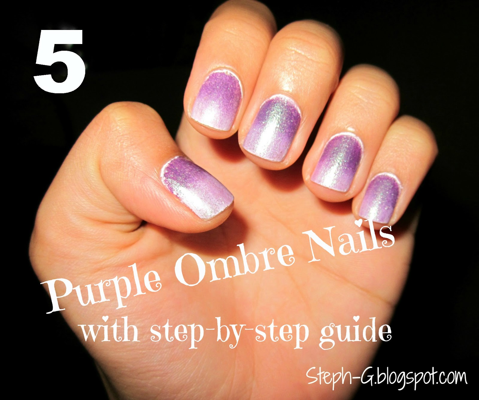 Steph G Nail Polishness Ombre Nail Design With Step Bystep Guide