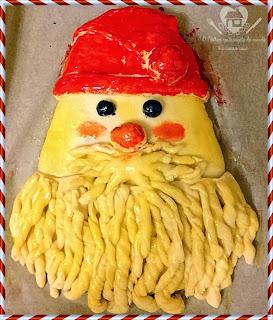 Receita de pao decorado de papai noel com passo a passo para o natal