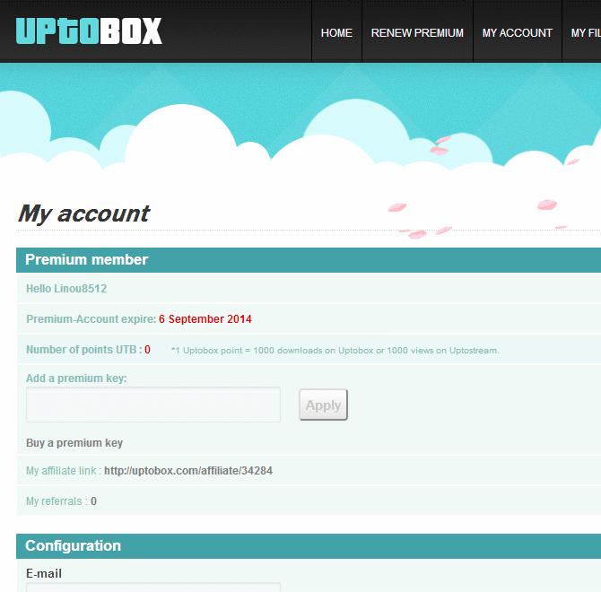 free uptobox premium account