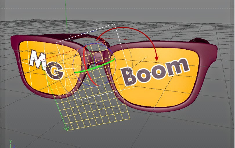 Texture + Render Retro plastic glasses in C4D  09