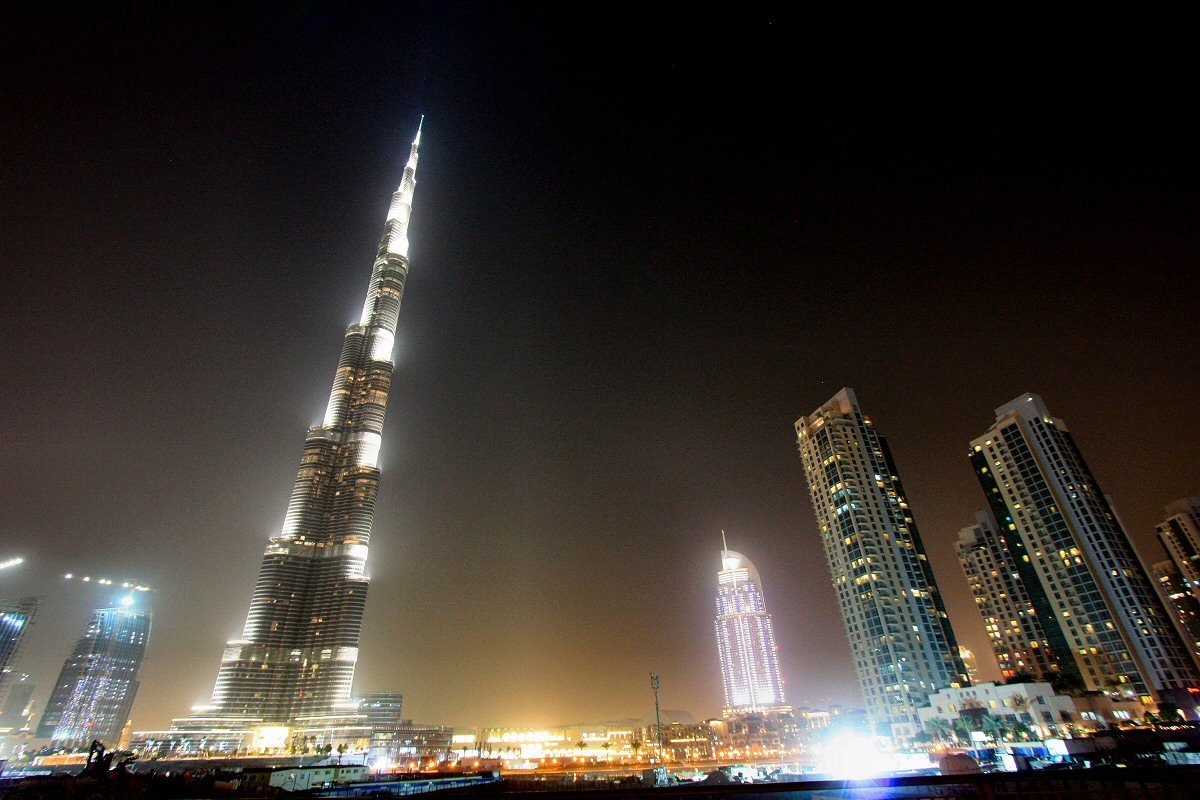 World Most Popular Places: Burj Khalifa At Night