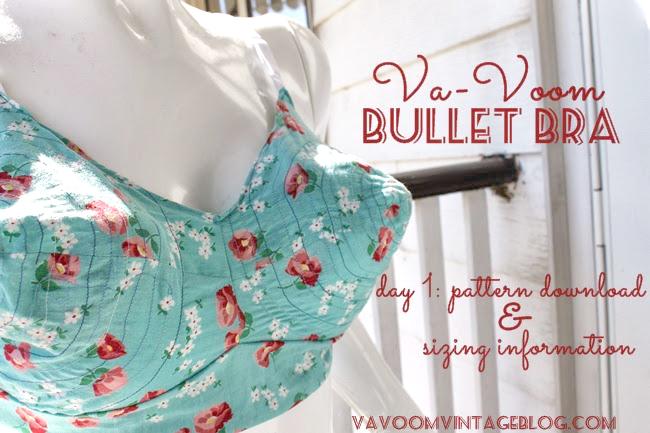 The Vintage Pattern Files: 1950\'s Sewing - The Va-Voom Bullet Bra ...
